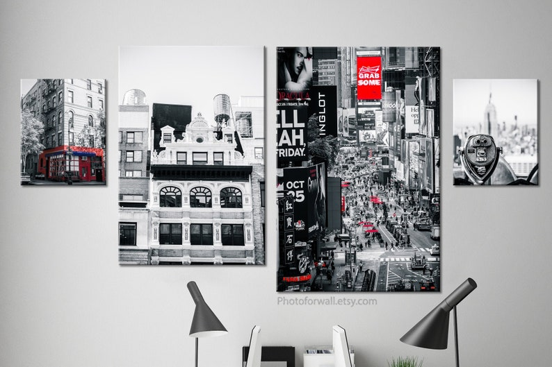Friends TV show New York wall art set of 4 black and white image 0