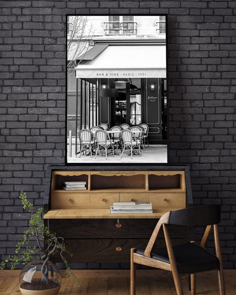 Black and white prints Paris wall art for office wall decor image 0