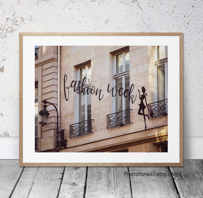 Paris fashion wall art Fashion week print for living room image 0