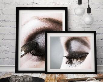 Bathroom decor/makeup photography/makeup print/ bohemian wall decor/bathroom art makeup print /Boho Chic Beauty print, glamour decor