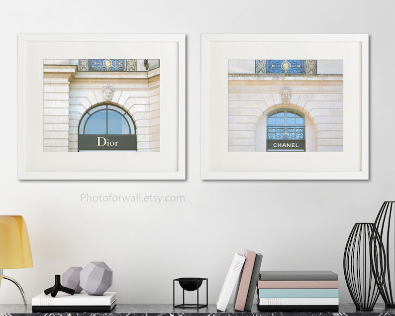 Dior and Chanel prints unframed fashion wall art laundry room image 0