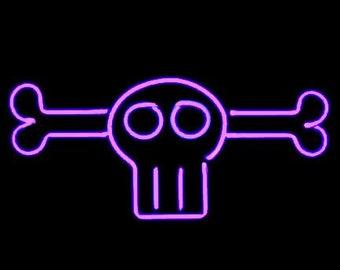 Voodoo Skull and Bones Neon Freestanding Tabletop Modern Design Art  Sculpture 00cbafe7c