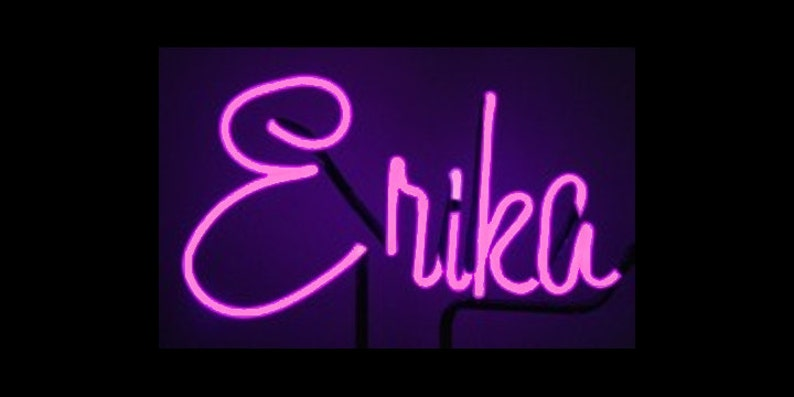 Neon Name or Word Custom Neon Freestanding Name Art Sculpture image 0