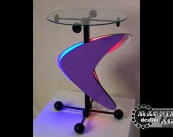 Atomic Boomerang Neon Art Table MidCentury Modern Retro Original Design