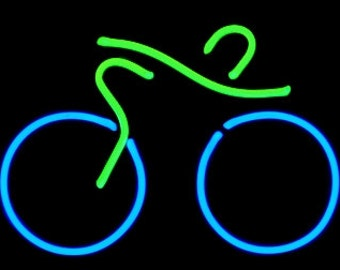 Bicycle Freestanding Tabletop Neon Art Modern Design Sculpture