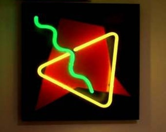 Abstract Neon Art Wall Hanging Sculpture Modern Unique Design