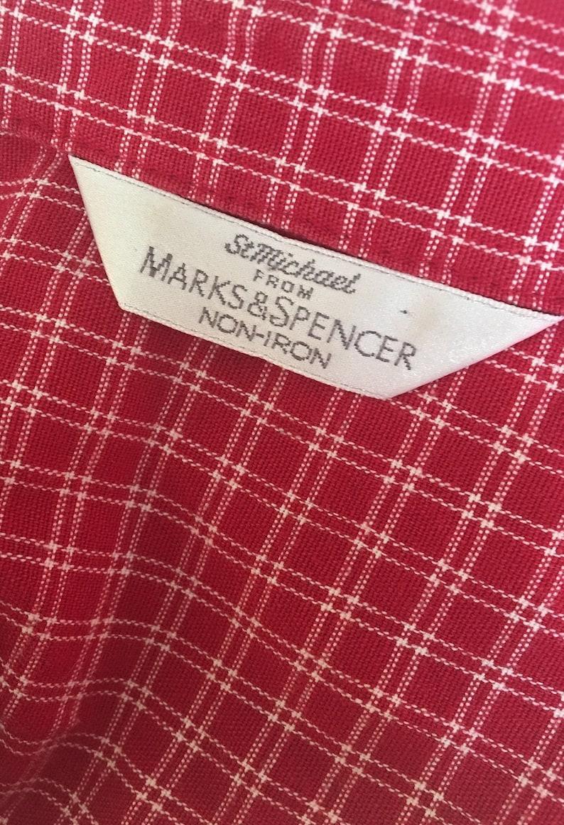 Vintage 90s St Michael Checked Shirt Size UK 12 retro grunge Vintage Check Shirt Festival Indie Mod Grunge Red