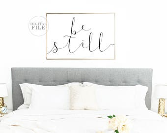FATHER'S DAY GIFT Be Still (5) Jpegs 36x24/30x24/24x18/14x11/A0 - Bedroom Decor - You Print Printable Wall Art - Personal Use Only