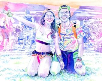 Personalized rave boyfriend gifts, Custom EDM wall art, Gift for ravers, Festival techno couple gifts for boyfriend, Rave couple plur hippie