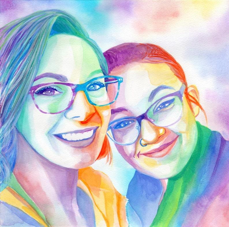 Lesbian Wedding Gift For Lesbian Couple Ideas Rainbow Women Etsy