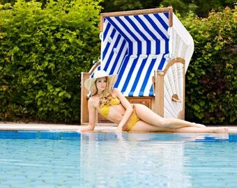 Bikini Swimsuit Bathing dress Maillot in yellow and brown