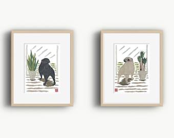 Choose one: Pug Art, Pug Dog, Pug Gift, Pug Print, Pugs, Pugs Dog Art, Pug Illustration