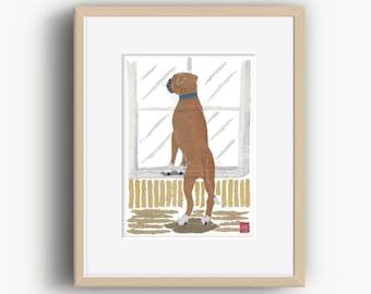 Boxer Dog, Boxer Dog Print, Boxer Dog Gifts, Modern Dog Art
