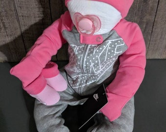 5a21d98146c0 Nike girl Baby shower diaper cake baby or centerpiece pink super cute