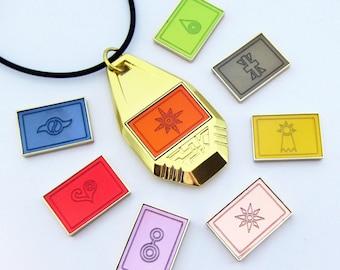 Digimon Tag - 8 Removable Crests (Complete Set)