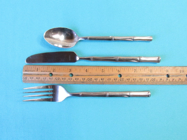 More Available Kona Vintage 1960/'s Vintage Bamboo Flatware Stainless Steel Korea 1 Place Setting