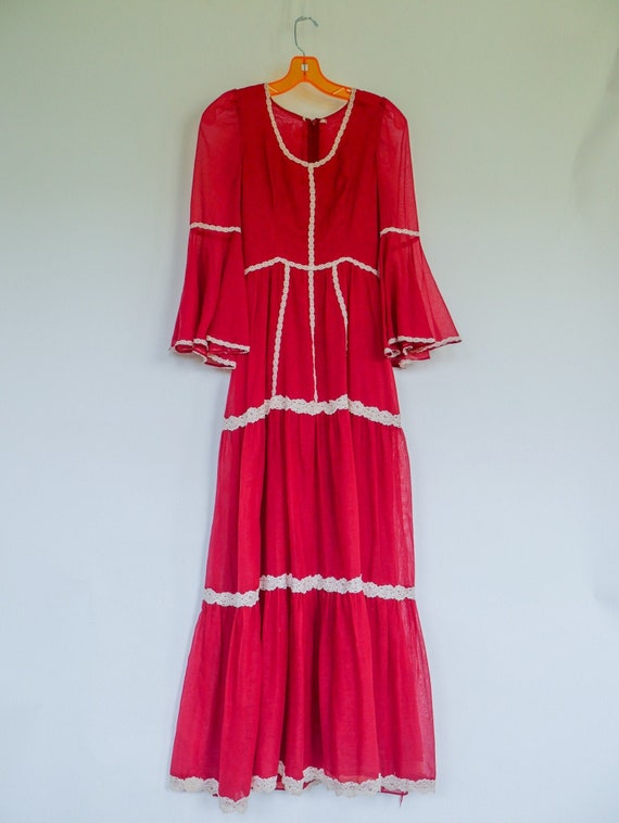 1970's Boho/Prairie Dress XXS
