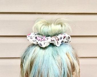 Unicorn hair scrunchie hair tie ponytail holder kawaii