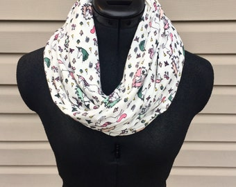 Unicorn infinity scarf multi color scarf kawaii feminine
