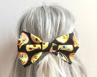 Emoji bow hair clip big hair bow barrette