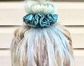 Mermaid lagoon hair scrunchie hair tie