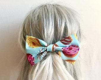Sweet shoppe donut bow hair clip big bow barrette kawaii