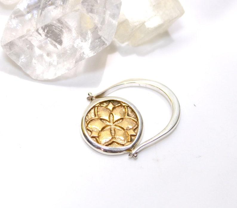 Luna Moth fidget ring sterling silver boho syle minimal design 18k gold spinning ring flip ring GOLD Luna Moth Ring