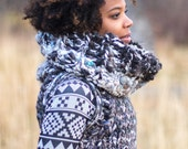 Rocky Mountains Sweater Vest Cowl