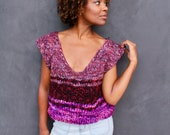 Purple Rain Knit T-Shirt Sweater