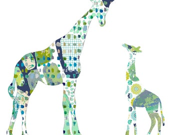 boy nursery decor, nursery wall art, baby boy nursery, giraffe art, baby boy art, kids wall art, nursery art, giraffe nursery, children art