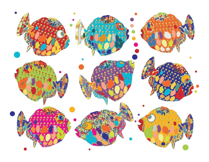 kids bathroom wall decor fish print. childrens bathroom decor. | etsy