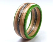 Recycled Skateboards, Wooden Ring, Handmade Ring, Mens Women 39 s Gifts, Wood Ring, Wooden Jewellery, Skateboard Ring, Cool Ring, Recycled Ring