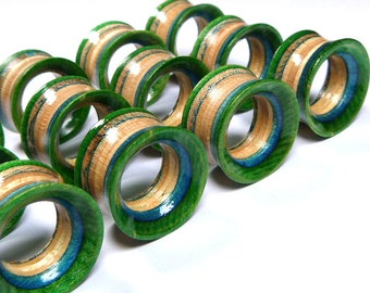 Single Plug Plugs and Tunnels Gauges Wooden Plugs Wood Tunnel Ear Plugs Recycled Skateboards Wood Tunnels Wooden Plug Ear Gauge
