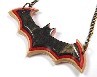 Recycled Skateboards, Bat Necklace, Bat Pendant, Vampire Bat, Dramatic Necklace, Gothic Bat Necklace, Bat Charm Necklace
