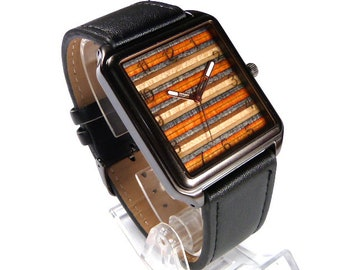 Recycled Skateboards, Wooden Watch, Skate Watch, Custom Watch, Personalised Watch, Wood Watches, Wood Watch, Gifts For Men, Unique Watch