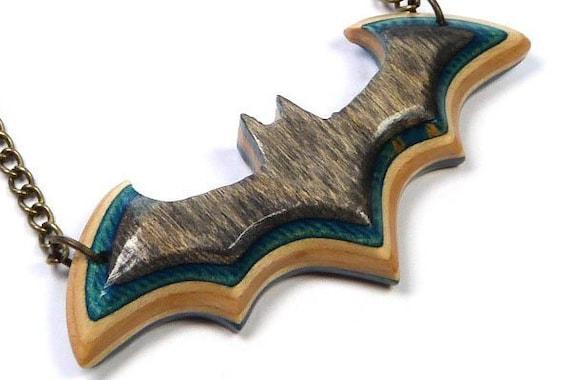 Batman Gifts Vampire Bat Recycled Skateboards Bat Necklace Dramatic Necklace Bat Pendant Gothic Bat Necklace Bat Charm Necklace