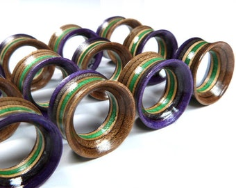 """Recycled Skateboards, 18mm (11/16"""") Plugs, Plugs and Tunnels, Ear Gauge, Wooden Plug, Wood Tunnel, Wooden Plugs, Wood Tunnels, Gauges"""