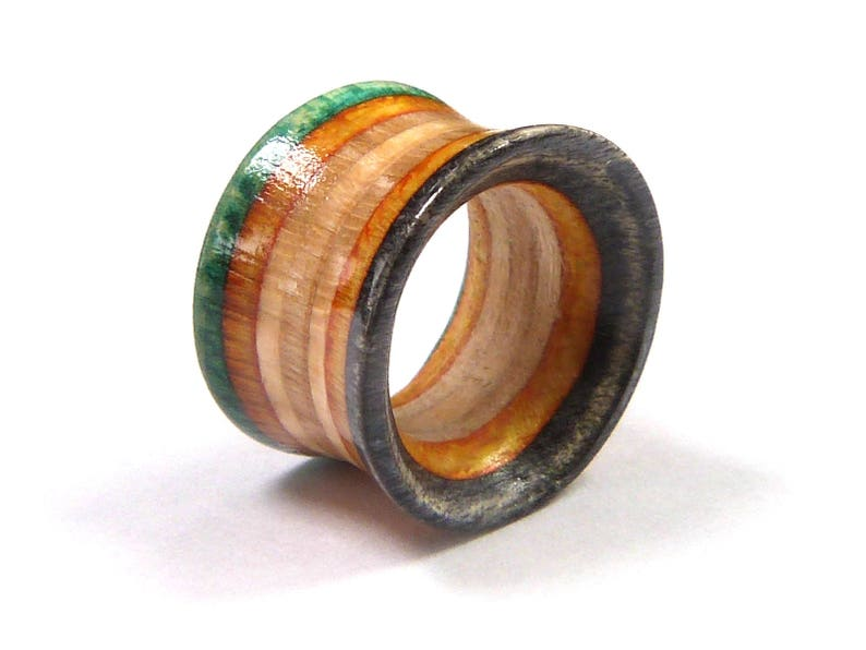 Wooden Plug Recycled Skateboards Wooden Plugs Gauges Ear Plugs Plugs and Tunnels Wood Tunnel Wood Tunnels Ear Gauge Single Tunnel