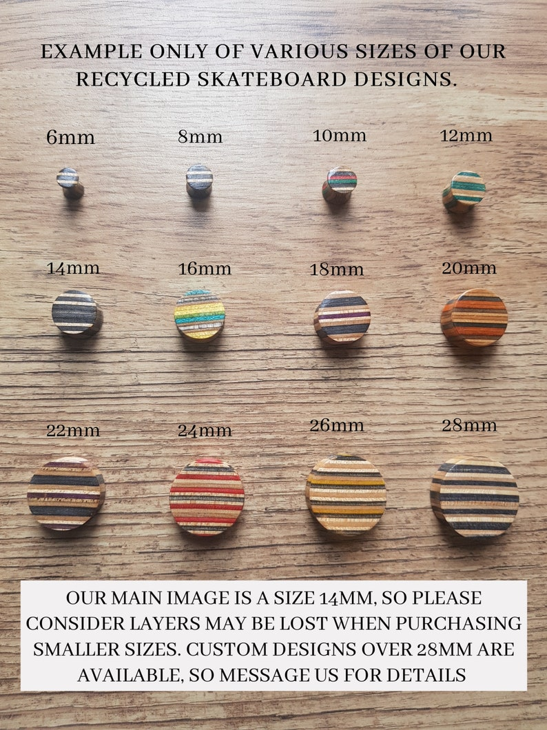 Wood Tunnel Recycled Skateboards Plugs and Tunnels Wooden Plug Wood Tunnels Gauges Ear Gauge Pair of Plugs Ear Plugs Wooden Plugs