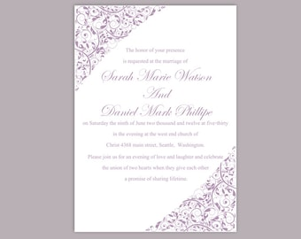 wedding invitation template download printable wedding etsy