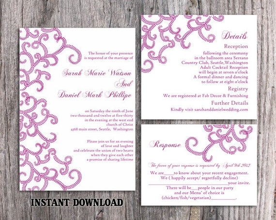 sale bollywood wedding invitation template download printable etsy