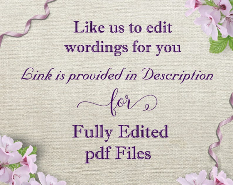 Printable Wedding Invitation Set Burlap Rustic Script Invitation Heart Cards DIY Editable Download We Do Wedding Invitation Template DG68