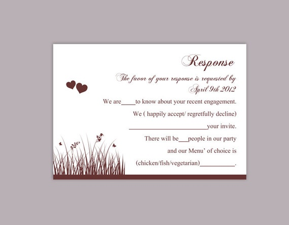 diy wedding rsvp template editable word file download rsvp etsy