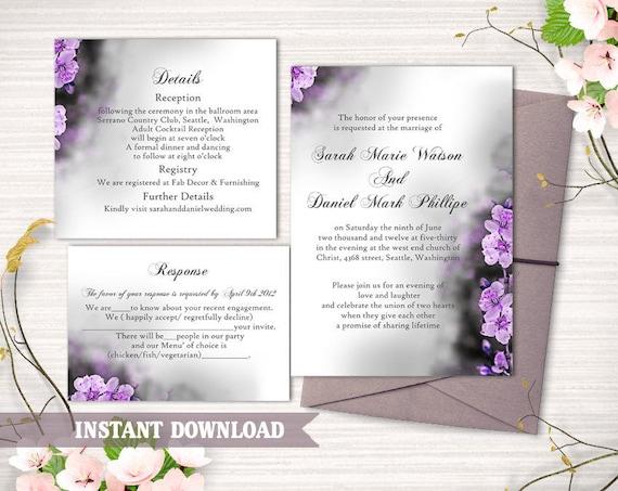 wedding invitation template download printable wedding etsy