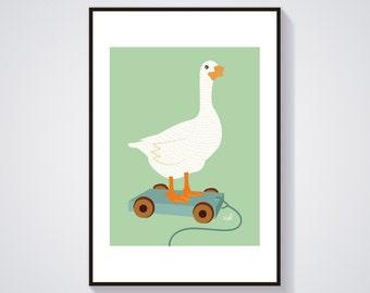 Illustration - Léonie the goose - Poster / Print