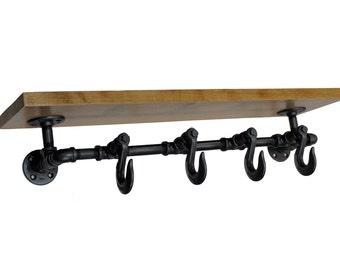 Clevis Hook Coat Rack Shelf