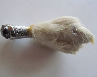 Scottish  Brooch Foot Scottish Grouse foot Kilt pin Scottish Thistle Brooch Amethyst Brooch Scottish Kilt Accessories Taxidermy Bird Foot