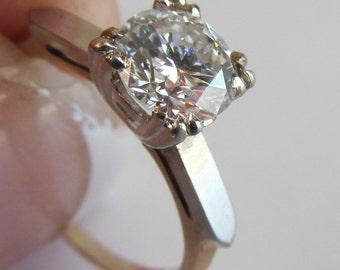 Diamond Ring 1.08 Carat Diamond Ring sz 6 5 Engagement Ring 14K Gold Diamond Wedding Rings Diamond Solitaire Ring Brilliant Diamonds sz 6 5