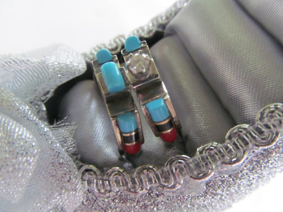 Cowgirl Cowboy Wedding Ring Sets Turquoise Sterling Wedding Etsy