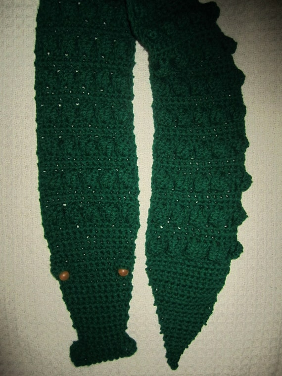 Crochet Alligator Scarf Etsy